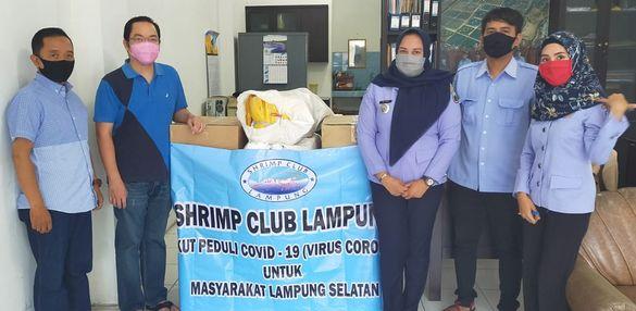 Shrimp Club Lampung Bantu APD Medis