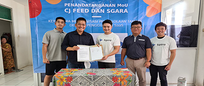 Sgara Gandeng CJ Feed Aplikasikan Software Tambak