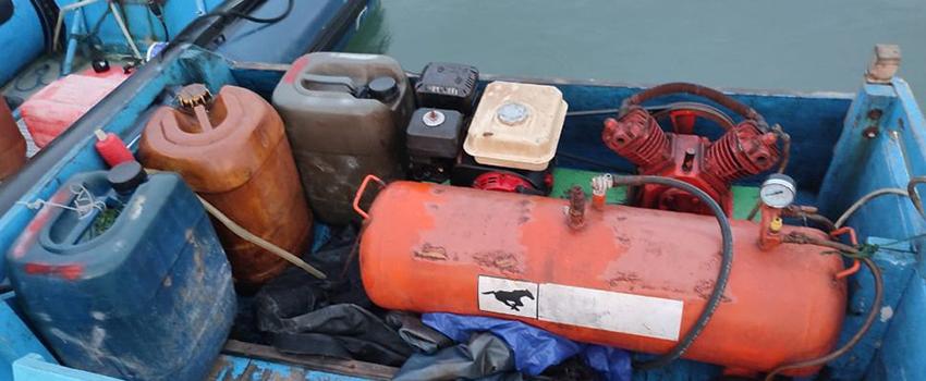 Pelaku Pengeboman Ikan di Perairan Selayar Sulsel Diamankan